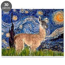 Starry Night Llama Puzzle
