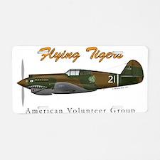 Flying Tigers, American Volun Aluminum License Pla
