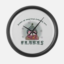 Flakes Large Wall Clock