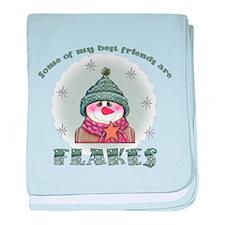 Flakes baby blanket