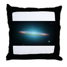 Cute Spitzer space telescope Throw Pillow