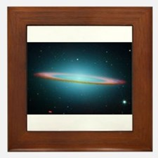Cute Hubble image Framed Tile