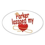 Parker Lassoed My Heart Sticker (Oval)