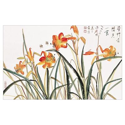 Flowering Shrubs Poster