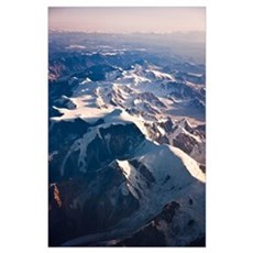 Aerial view of Mount Torbert the Tordrillo Mountai Poster