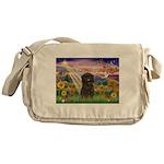 Autumn Angel & Affenpinscher Messenger Bag