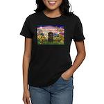 Autumn Angel & Affenpinscher Women's Dark T-Shirt