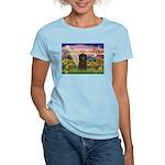 Autumn Angel & Affenpinscher Women's Light T-Shirt