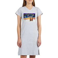 XmasSunrise/2 Airedales Women's Nightshirt