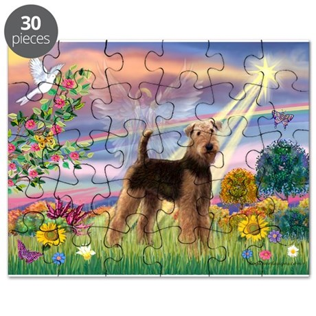 Cloud Angel and Airedale Puzzle