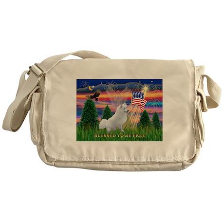 Blessed / Eskimo Spitz Messenger Bag