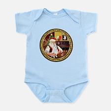Santa's American Eskimo #5 Infant Bodysuit