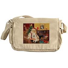 Santa & Amer Eskimo Messenger Bag