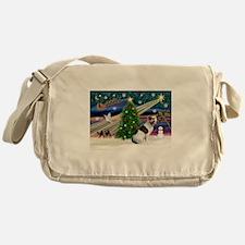 Xmas Magic & Amstaff (BW) Messenger Bag