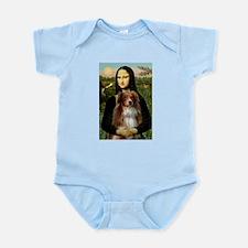 Mona Lisa / Australian Shephe Infant Bodysuit