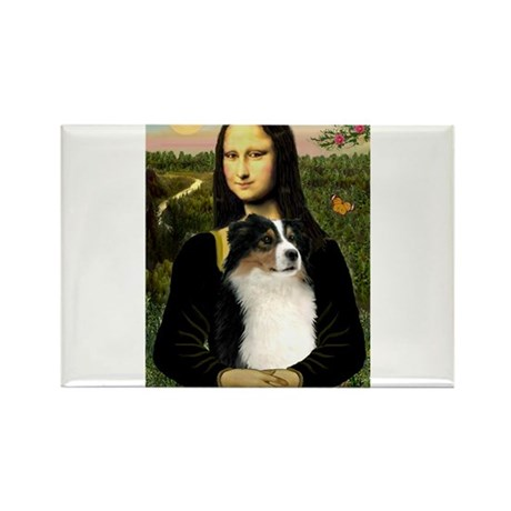 Mona Lisa / Aussie (#2) Rectangle Magnet