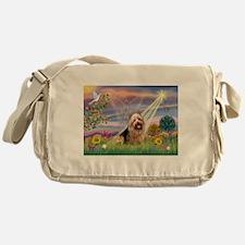 Cloud Angel Aussie Terrier Messenger Bag