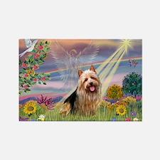 Cloud Angel Aussie Terrier Rectangle Magnet (10 pa
