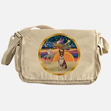 XmasStar/Basenji (brin) Messenger Bag