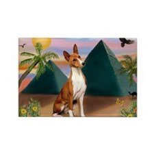 Basenji at the Pyramids Rectangle Magnet (10 pack)