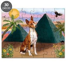 Basenji at the Pyramids Puzzle