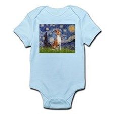 Starry Night & Basenji Infant Bodysuit
