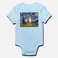 Starry Night & Basenji Infant Bodysuit