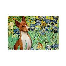 Basenji in Irises Rectangle Magnet (10 pack)