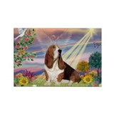 Basset hound cloud angel Magnets
