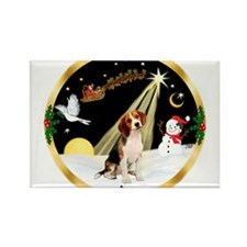 Night Flight/Beagle Rectangle Magnet