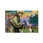 Saint Francis / Beagle Rectangle Magnet (10 pack)