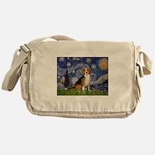 Starry Night & Beagle Messenger Bag