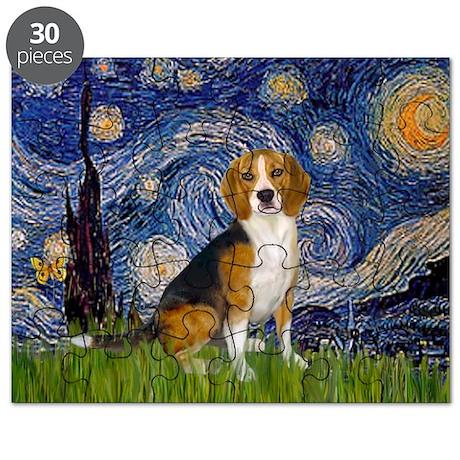 Starry Night & Beagle Puzzle