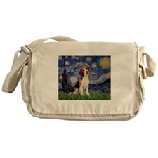 Starry Night & Beagle Pup Messenger Bag
