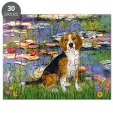 Beagle in Monet's Lilies Puzzle