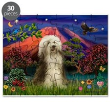 Mt Fuji / Bearded Collie Puzzle
