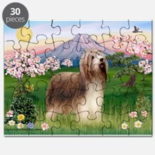 Fuji Blossoms / Bearded Collie Puzzle