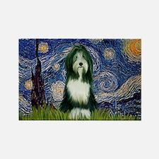 Starry Night & Beardie Rectangle Magnet (10 pack)