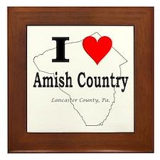 I Love Amish Framed Tile