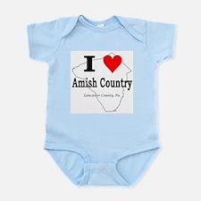 I Love Amish Infant Bodysuit