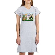 Easter Bichon Frise Women's Nightshirt