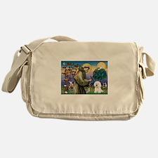 St Francis / Bichon Frise Messenger Bag