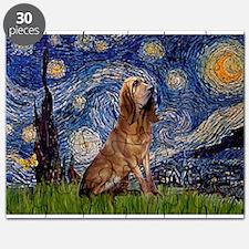 Starry Night Bloodhound Puzzle