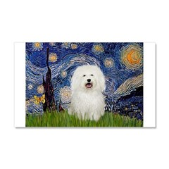 Starry Night Bolognese Car Magnet 20 x 12