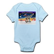 XmasSunrise/2 Border Collies Infant Bodysuit