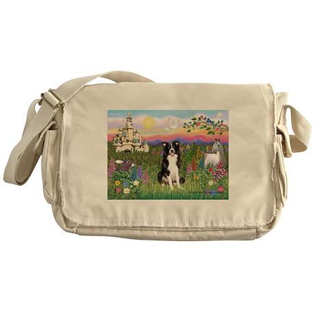 Castle & Border Collie Messenger Bag