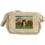 Bright Country/Border Collie Messenger Bag