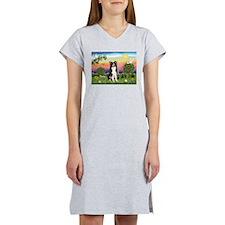 Bright Country/Border Collie Women's Nightshirt