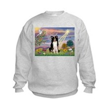 Cloud Angel Border Collie Sweatshirt