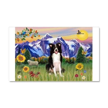 Mt Country & Border Collie Car Magnet 20 x 12
